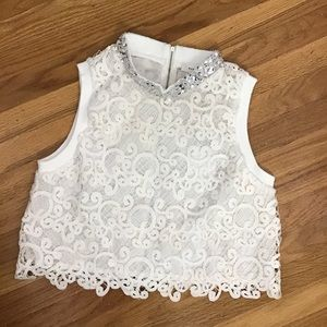 Endless Rose cutout lace top L NWT